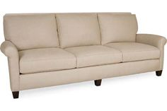Lee Industries 3223-03 Sofa Overall: W97  D41  H38   Inside: W81  D23  H18   Seat Height: 18 Arm Height: 23 Back Rail Height: 38   Fabric / Leather: Wisdom Burlap