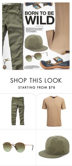 """""""Born To Be Wild"""" by regettacanoe ❤ liked on Polyvore featuring Abercrombie & Fitch, Joseph, Ray-Ban, Givenchy, American Coin Treasures, men's fashion, menswear, polyvoreeditorial and polyvoreset"""
