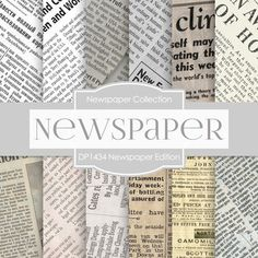 Newspaper Edition Digital Paper DP1434 - Digital Paper Shop - 1
