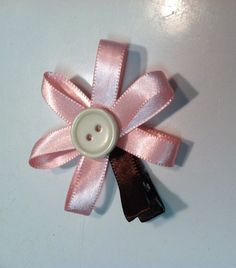 Pink Flower Baby Hair Clip $5