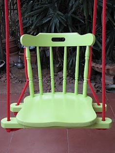 lovely idea for recycling old chair