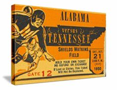 #Tennessee #footballtickets! The best vintage Tennessee #Vols football tickets are at   http://www.shop.47straightposters.com/Tennessee-Football-Tickets-Tennessee-Vanderbilt-Tickets_c40.htm