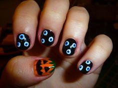 First halloween nails of the season. Inspired by Fleuryrose's DIY Evil Eye tutorial  AWESOME! Keep 'em coming!!