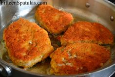 Parmesan Pork Chops ...I'd even try this with thin Round Steak or Chicken