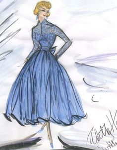 Edith Head sketch for Rosemary Clooney in White Christmas