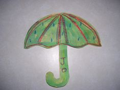 Crayon Resist Umbrellas for Rainbow Theme.  You can learn more about them at Making Learning Fun.