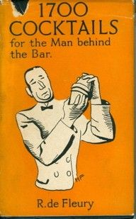 Vintage cocktail book. 1700 Cocktails for the Man behind the Bar #mrcalifornia #cocktails