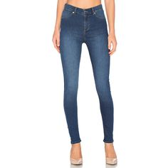Cheap Monday High Spray Skinny ($77) ❤ liked on Polyvore featuring jeans, skinny jeans, cheap monday, blue skinny jeans, skinny leg jeans and blue jeans