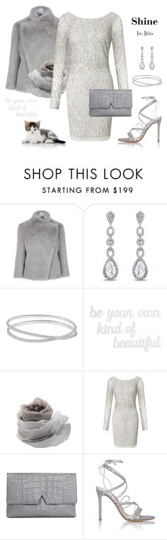 """""""Shine"""" by debbie-michailides ❤ liked on Polyvore featuring Ted Baker, Miadora, Maison Margiela, PBteen, WALL, Faliero Sarti, Aidan Mattox, Vince and Gianvito Rossi"""