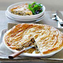 Chicken and leek pie