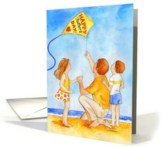 Happy Father's Day Dad Kite Flying with Kids card. Personalize any greeting card for no additional cost! Cards are shipped the Next Business Day. Happy Fathers Day Dad, Fathers Day Crafts, Flying With Kids, Father's Day Greeting Cards, Kite Flying, Kites, Try Something New, Kids Cards, Special Day