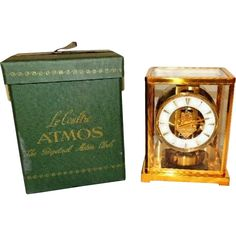 1950s #LeCoultre Atmos Clock 526-5 Needs Tune Up Original Box offered by PREMIER-ANTIQUES a Ruby Lane Shop