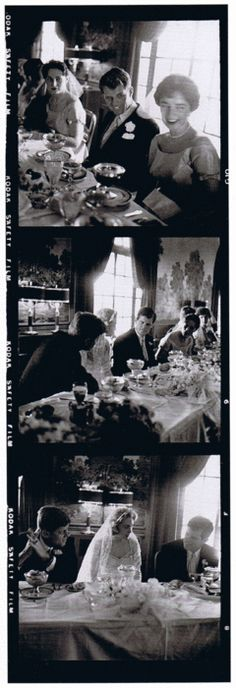 1958. 29 Novembre. By Jacques LOWE. Ted KENNEDY. Wedding reception. JFK