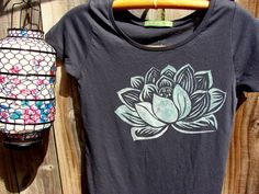 Indian+Lotus+Organic+Cotton+Tee++Charcoal+by+PutuPrincessEscapes,+$32.00