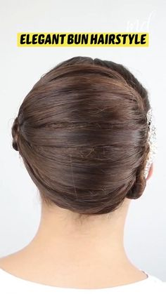 Easy Hairstyles For School, Easy Hairstyles For Medium Hair, Elegant Hairstyles, Bun Hairstyles, Medium Hair Styles, Curly Hair Styles, Combattre La Cellulite, Competition Hair, Hairdo For Long Hair