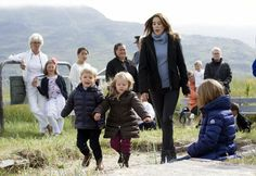 MYROYALSHOLLYWOOD FASHİON:  Danish Crown Princely Family visit Greenland, August 1, 2014-Crown Princess Mary with twins Prince Vincent and Princess Josephine