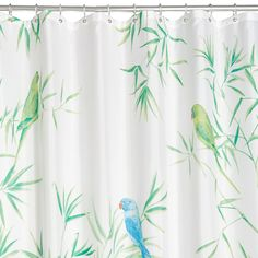 Multicolour Tropical Birds Shower Curtain (L)2000 mm | Departments | DIY at…