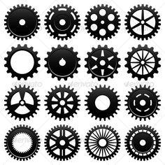 Machine Gear Wheel Cogwheel  #BestDesignResources Steampunk Gears, Steampunk Design, Steampunk Patterns, Gear Template, Templates, Gear Tattoo, Ri Happy, Wooden Gears, Gear Wheels