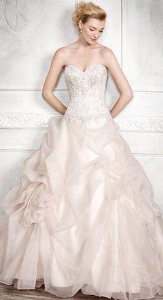dreamy pink wedding dress from Kenneth Winston Princess Wedding, One Shoulder Wedding Dress, Couture, Bride, Disney Princess, Wedding Dresses, Pink, Style, Fashion