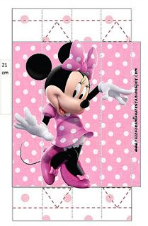 Minnie Rose Complete Kit - With frames for invitations, labels for goodies, souvenirs and pictures!   Making Our Party