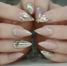 Image result for lavender and white stiletto nails