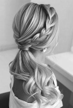 Long Hair Wedding Styles, Wedding Hair Down, Wedding Hair And Makeup, Gown Wedding, Lace Wedding, Wedding Cakes, Wedding Bride, Wedding Rings, Wedding Dresses