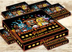 Five Nights At Freddys Pizza Label  Note: this is an Instant Download (.jpeg file) Nothing is physically sent to you!  This birthday set includes