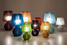 bunch of beautiful Stripes lamps with blurred effec (little phtographic magic)