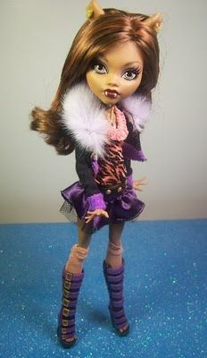 These are Monster High Dolls :) my new obsession that I collect. This one is Clawdeen Wolf
