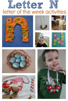Letter Of The Week activities for the letter N. Also includes a link to round ups for A-M