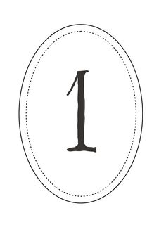 Pretty Unpretentious: Free Printable: Wedding Table Numbers