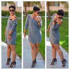 mimi g.: Casual Friday #DIY Pullover Dress + Oliso Smart Iron WINNER!!!