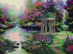 Garden of Prayer Embellished Cross Stitch Kit | sewandso