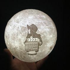 Fresh Customized D Full Moon USB LED Night Light Table Desk Lamp Rechargeable Moonlight cm Indoor Lighting