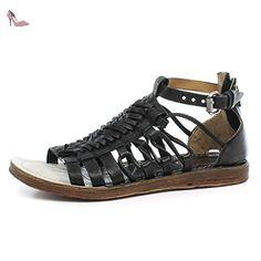 A.S.98 Sandales Ramos 534033-101 Nero Artic 38 - Chaussures as98 (*Partner-Link) Roman Sandals, Gladiator Sandals, Leather Fashion, Mens Fashion, Black Platform Sandals, Male Fashion Trends, Mode Masculine, Fashion Sandals, Huaraches