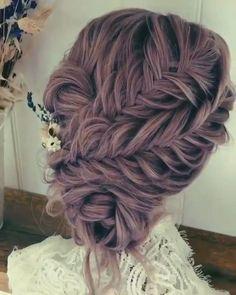 Hairdo For Long Hair, Easy Hairstyles For Long Hair, Bride Hairstyles, Pretty Hairstyles, Short Hair, Bridal Hair Buns, Bridal Updo, Hair Upstyles, Natural Hair Styles