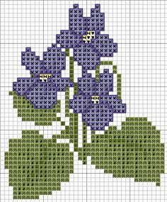 woodland violet cross stitch ADPi!
