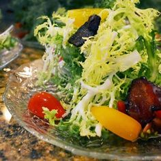 Frisee Salad with Candied Bacon & French Vinaigrette