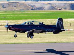 Hawker Beechcraft T-6 Texan II demonstrator at Warbirds Over Wanaka  Type: Raytheon 3000  Registration: N3000B  Location: Wanaka Airport  Date: 06/04/2012