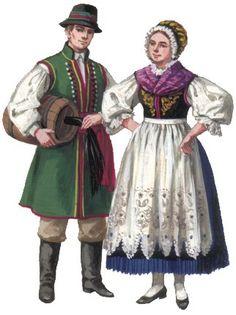 Ethnic Outfits, Ethnic Clothes, Folk Costume, Costumes, German Folk, Polish Folk Art, European Dress, Vintage Jeans, Traditional Dresses