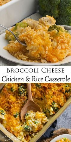 This Broccoli Cheese Chicken & Rice Casserole recipe is an easy make ahead dinner that you can bake another day! It's a great pantry meal and perfect freezer food! recipes for dinner make ahead Chicken Broccoli Rice Casserole Easy Casserole Recipes, Casserole Dishes, Brocoli Casserole Recipes, Easy Rice Recipes, Chicken Broccoli Rice Casserole, Brocolli Cheese Rice, Gluten Free Chicken Casserole, Ritz Cracker Chicken Casserole, Easy Chicken Rice Casserole