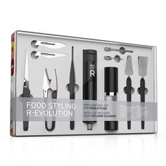 Your home chef will love finishing their complex dishes with this versatile food styling tool kit.