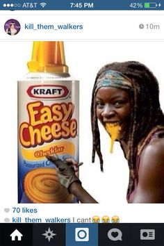 Michonne and her crazy cheese!