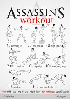 100 Workouts That Don't Require Equipment By Neila Rey. Keep your body fit everywhere. 100 Workouts That Don't Require Equipment By Neila Rey. Keep your body fit everywhere. Workout Without Gym, Gym Workout Tips, Ab Workout At Home, No Equipment Workout, At Home Workouts, Quick Workouts, Workout Plans, Parkour Workout, Neila Rey Workout