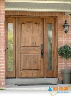 My dream home would have to have a wooden front door, somewhat like this, but with a window on the door too!