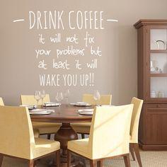 Wandtattoo - Drink Coffee