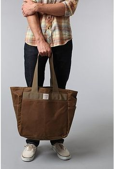Filson Canvas Tote Bag. for men? really? why do they get all the cooler looking totes?