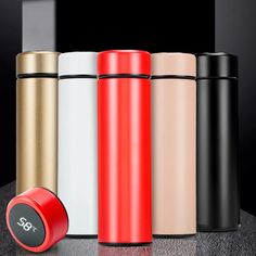 Intelligent Temperature Display Insulate Stainless Steel Thermos Tea Mug Strainer Mug Coffee Cup Thermal Bottle Vacuum Flask