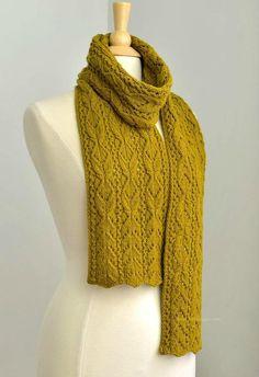 Beautiful stitch pattern! Bosc Scarf
