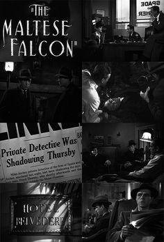The Maltese Falcon - John Huston Crime Film, Crime Fiction, Classic Film Noir, Classic Films, Humphrey Bogart, John Huston, Foreign Movies, Star Wars, New York